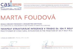 Certifikát CASI